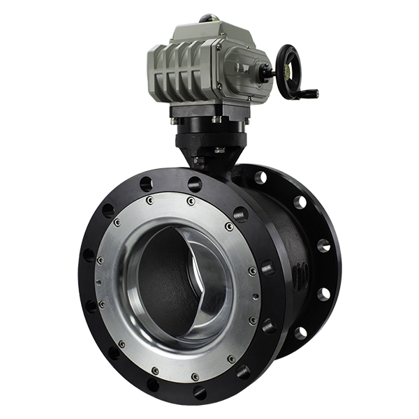 VSI high performance segmented v-ball valve with electric actuator